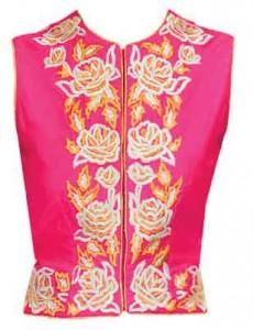 amrita_fuchsia_silk_blouse