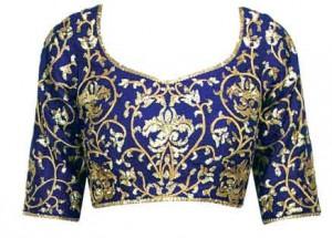 amrita_takur_royalblue_embroideryblouse