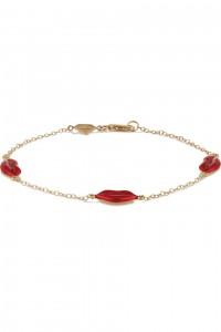 ALISON LOU Kiss By The Yard 14-karat gold and enamel bracelet