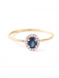 WOUTERS & HENDRIX GOLD sapphire & diamonds ring