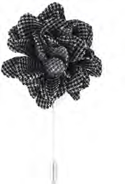 Lanvin Brooch with flower shape with print