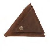 Samant Chauhan Leather triangular pouch